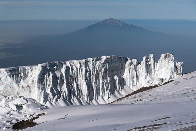 Mount Meru from Uhuru Peak, Kibo, Kilimanjaro