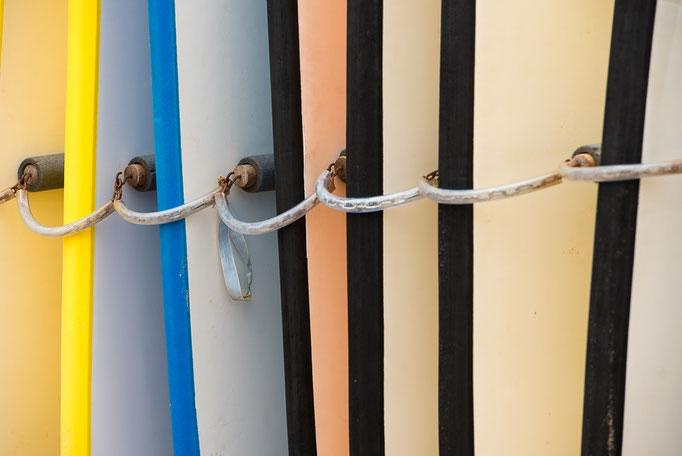Surfboards, Seignosse, Les Landes, Nouvelle-Aquitaine, France