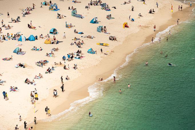 Porthcurno Beach, Cornwall, England, UK