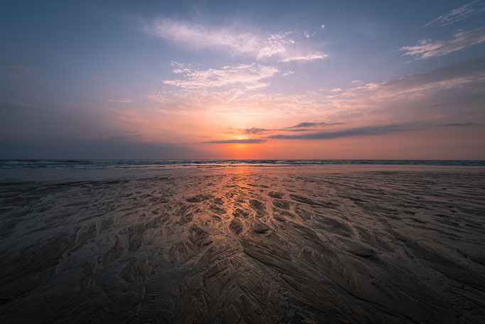 Sunset, Seignosse, Les Landes, Nouvelle-Aquitaine, France