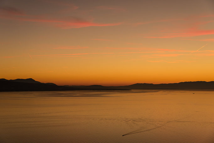 Lake Geneva after sunset