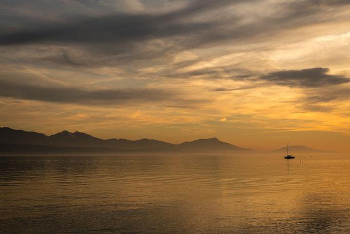 Lake Geneva sunset, Saint-Sulpice, Vaud