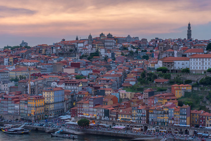 Ribeira from across the river Douro, Porto