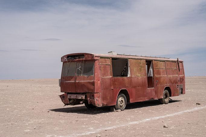 Bus in the desert