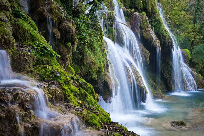 Waterfall Cascades des Tufs, Jura Mountains, France