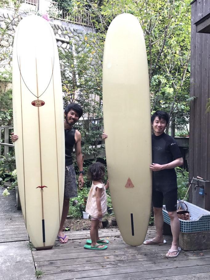 サーフィン記念写真