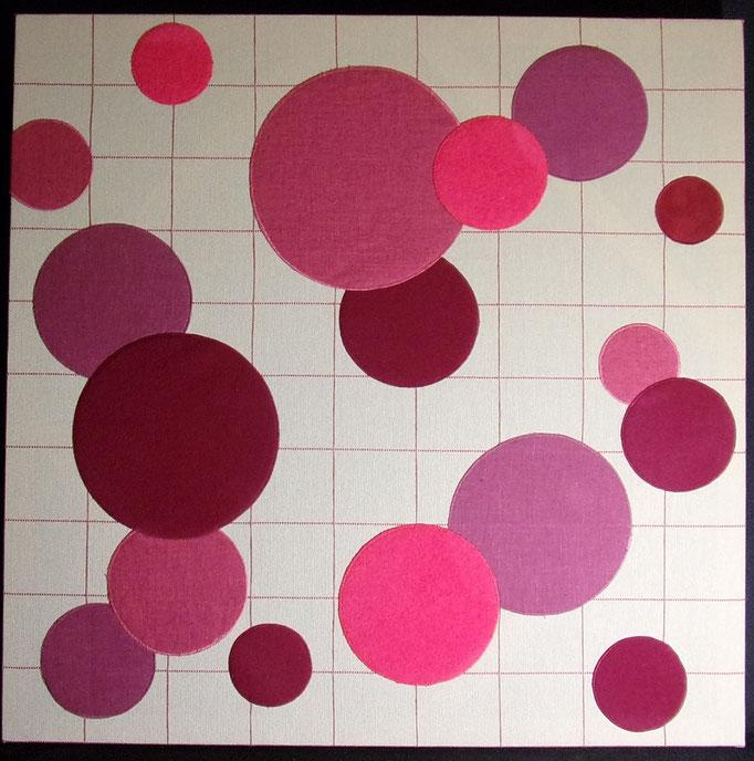 Réf : TI201904 - Tissus dans les tons rouge - 65 cm X 65 cm