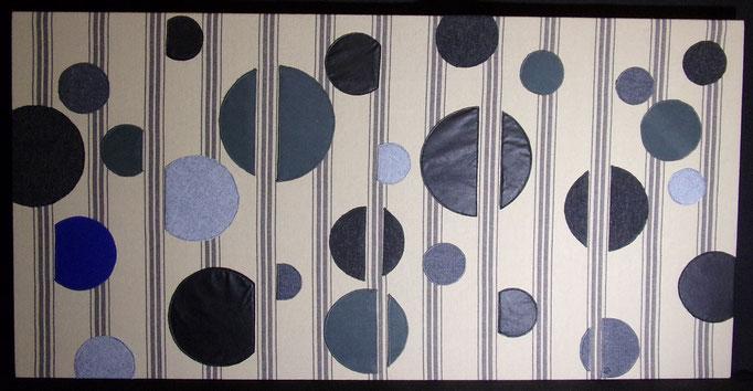 Réf : TI201902 - Tissus dans les tons gris - 120 cm X 60 cm