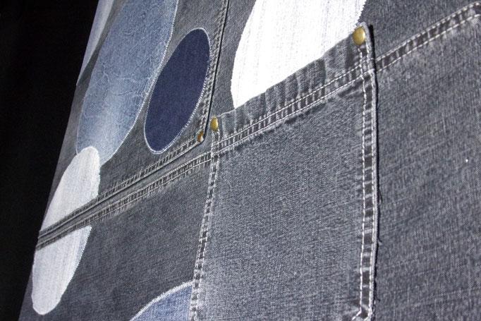 Réf : TI201908 - Tissus jean de récupération - 88 cm X 68 cm