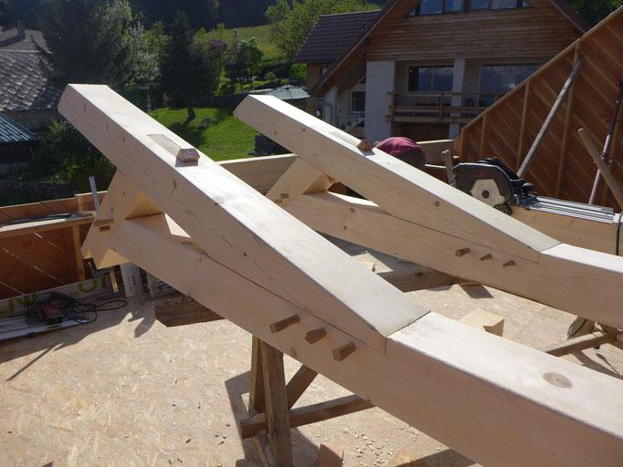 Assemblage bois-bois à clavette - conception et essais