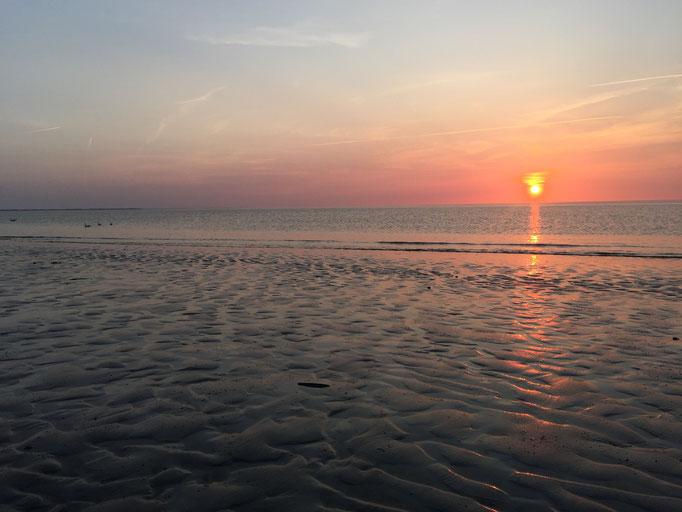 Sonnenaufgang gang für uns allein