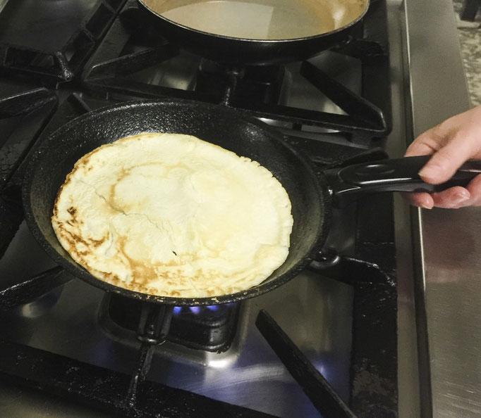 Pfannkuchen zu unserem Bio Frühstück