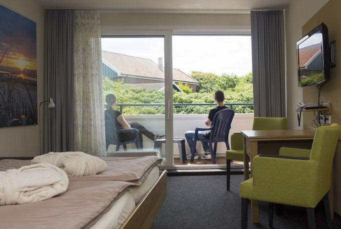 Blick in unser Junior Suite mit Balkon