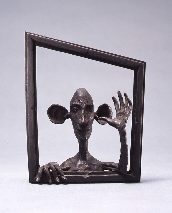 Hi, There! / bronze / 18.9×14.8×5.5cm / 1984 「やあ!」ブロンズ