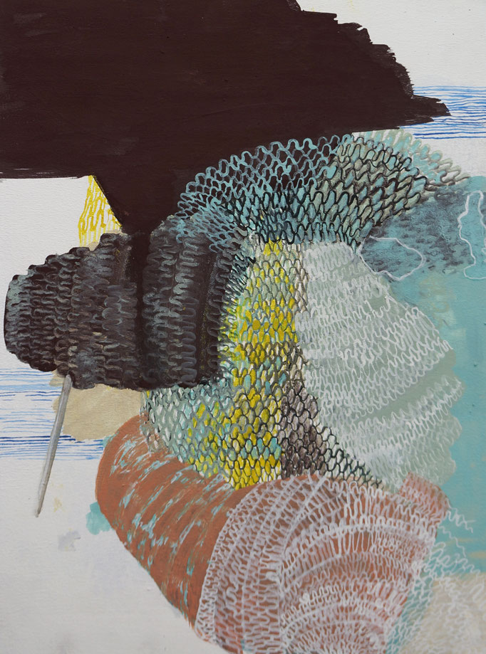 2019, Pigment/ Kreide auf MDF, 30x40 cm