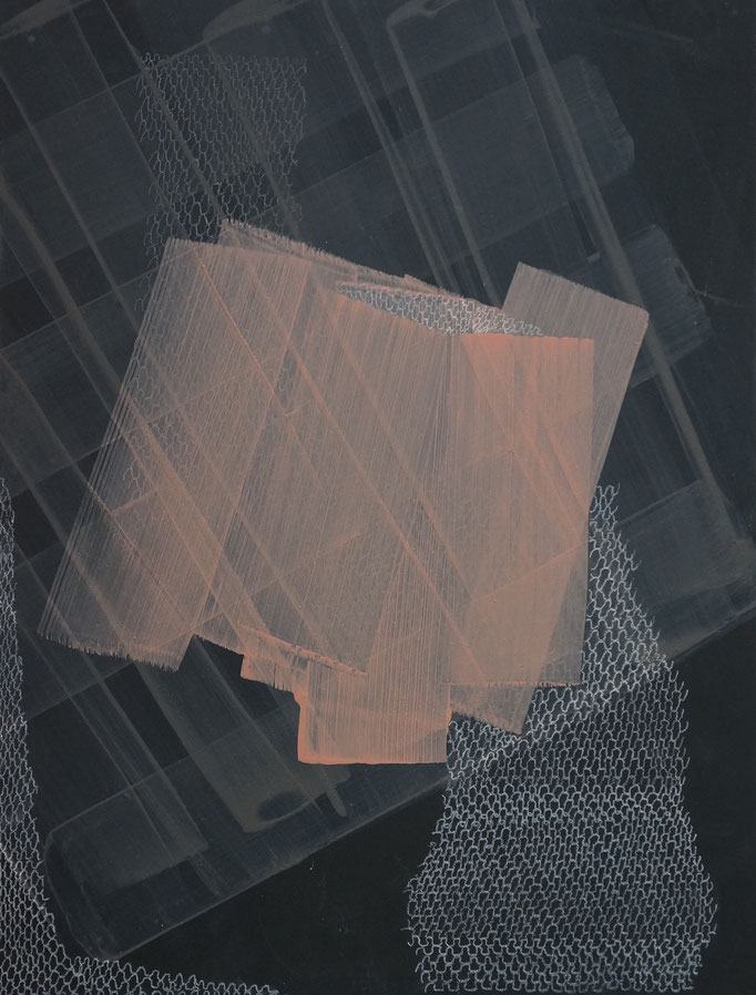 2017, Pigment/ Acryl, Buntstift auf MDF, 30x40 cm