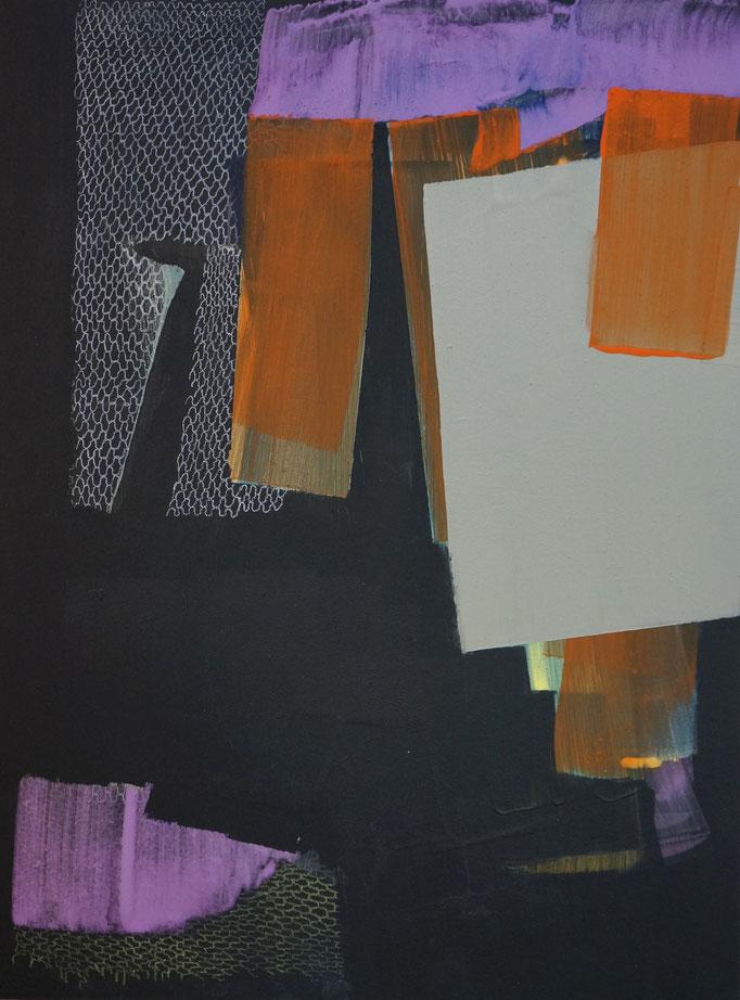 2017, Pigment/Acryl, Buntstift auf MDF, 30x40 cm