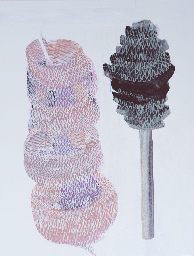 2019, Pigment/  Kreide auf MDF, 50x40 cm