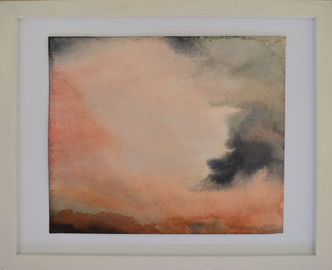 Wolken klein, 26,5 x 32,5 cm.