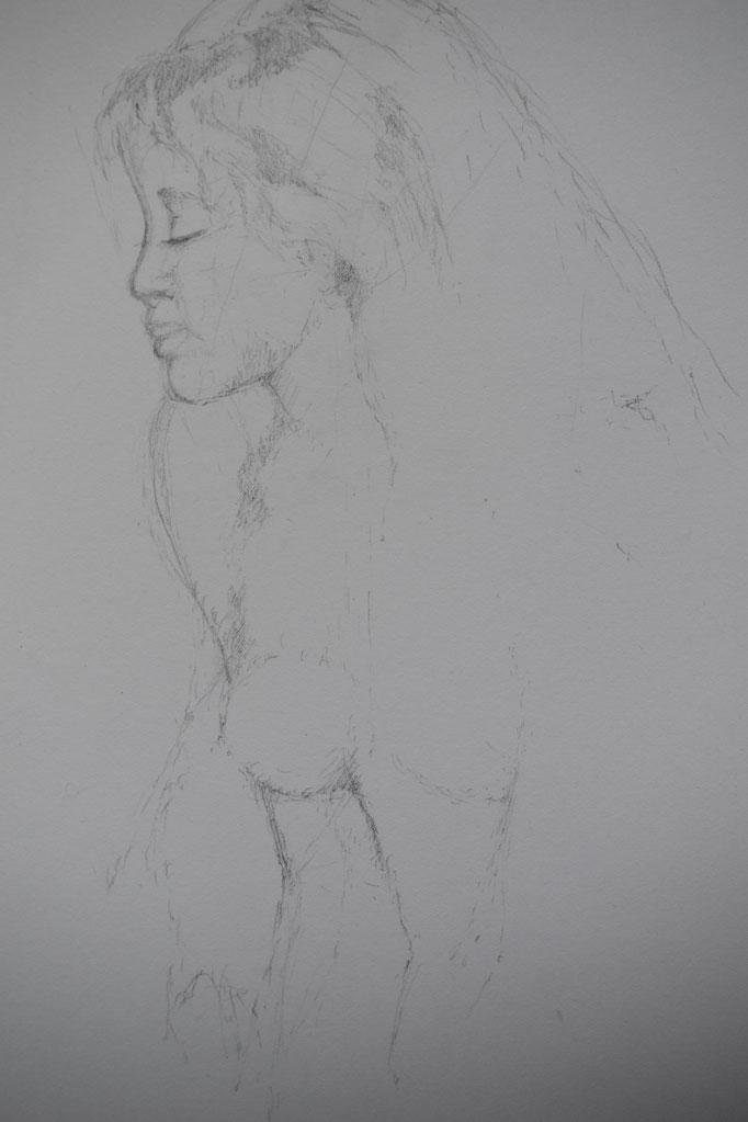 Skizze endstand,  mit der Beschäftigung zum Künstler Renoir August