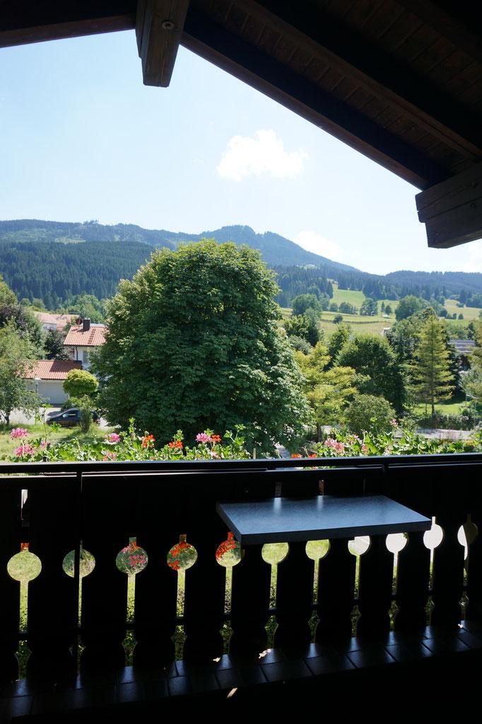 Balkon Fewo 1 mit Südblick Richtung Alpspitze