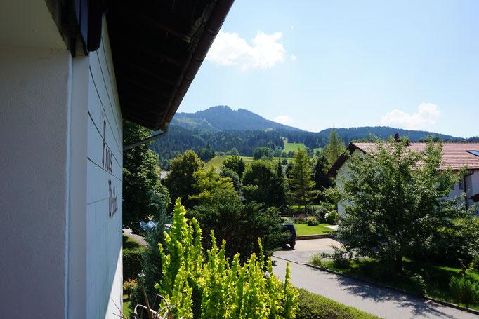 Westbalkon Fewo 3 mit Alpspitzblick
