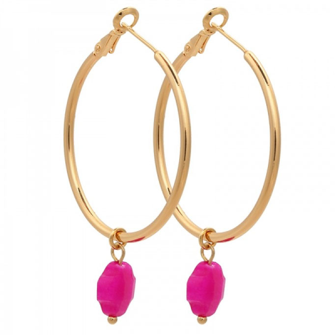 Ohrringe Creole Clover pink gold 19€