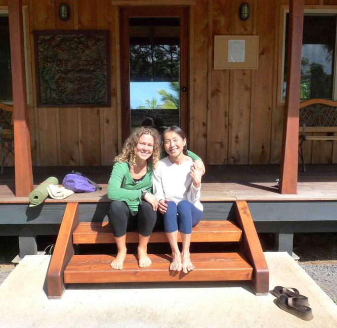 With Keiko Amstrong, at Shala Uaoa