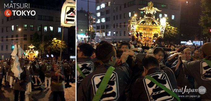 神田祭〈日本橋三・五地区〉五基神輿連合宮入渡御, 人形町二丁目三之部町会
