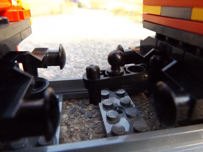 Zug-Abschnitte getrennt