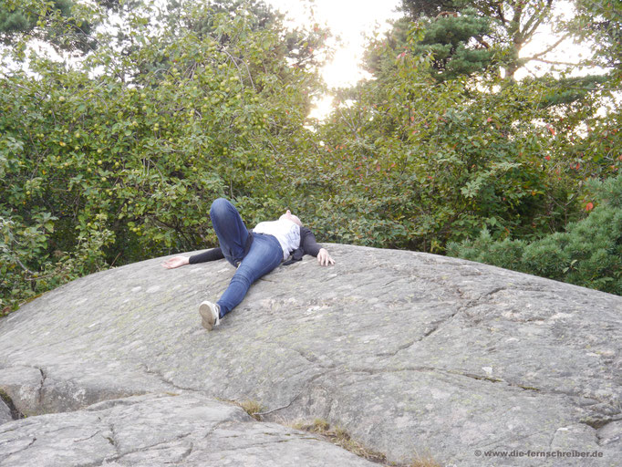 Schöner runder (Schären-)Felsen