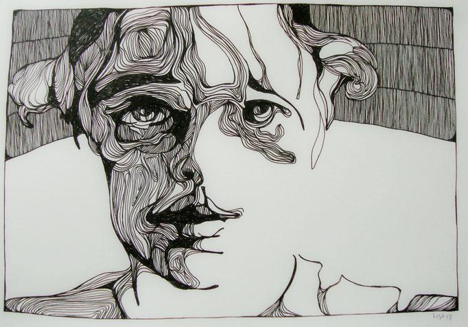 Melt (2) 21 x 29,7 cm Fineliner auf Papier