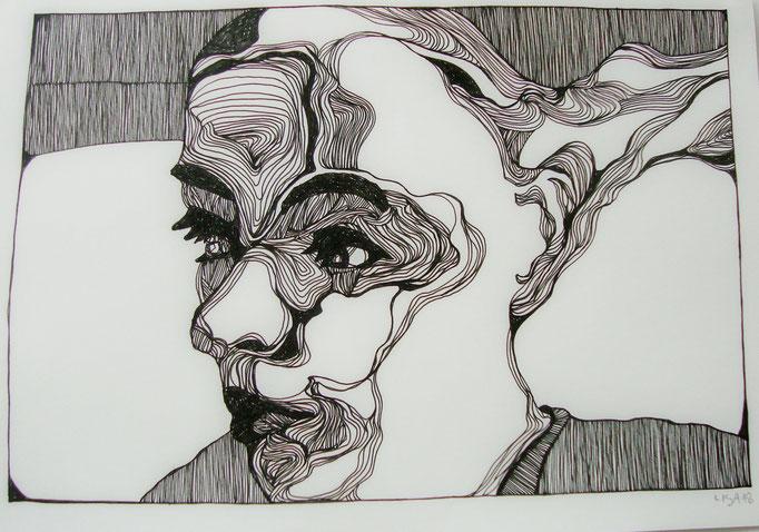 Melt (1) 21 x 29,7 cm Fineliner auf Papier