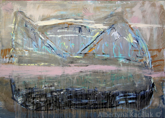 Behind the horizon, 130x180cm, oil, acrylic, resin on canvas, 2016, available in AKucharskiArt (info@akucharskiart.de)