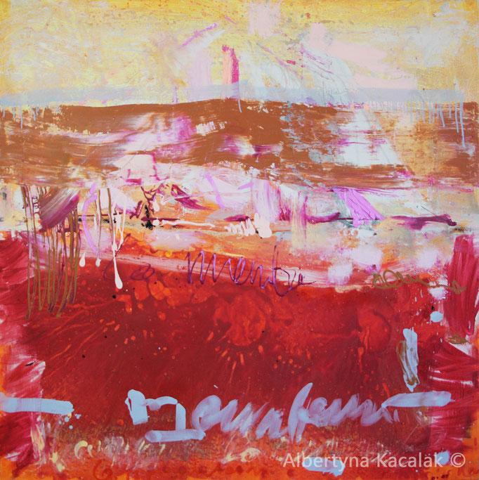 Volcano, 150x150cm, oil, acrylic, resin on canvas, 2016, available in AKucharskiArt (info@akucharskiart.de)