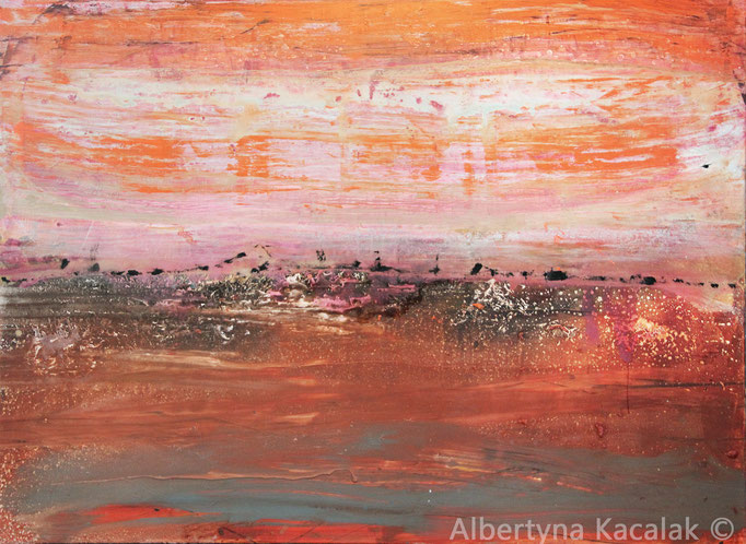 Landscape orange, 130x180cm, oil, acrylic, resin on canvas, 2016, not available