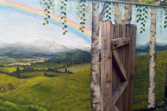 Cotswolds outdoor mural, Gloucestershire