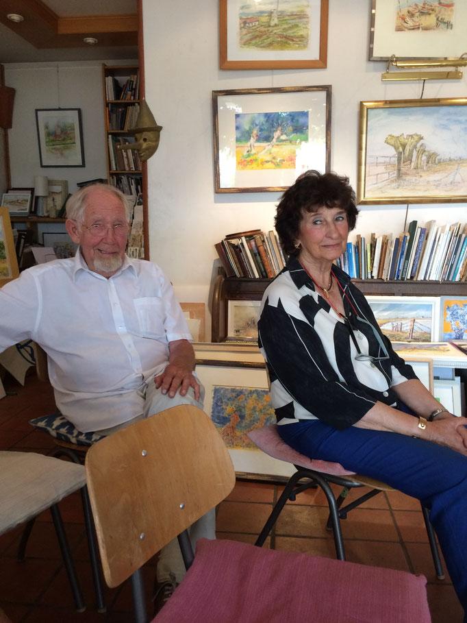 Die Galeristen und Gastgeber - Hein und Ute Driesen