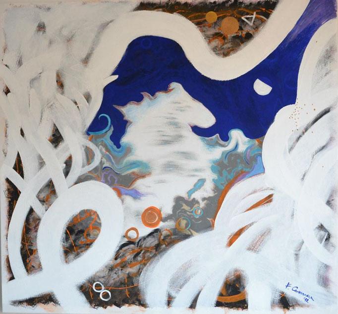 White horse -  acrilici e smalti   2012