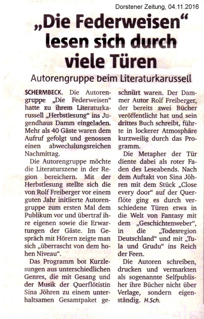 Dorstener Zeitung, 04.11.2016