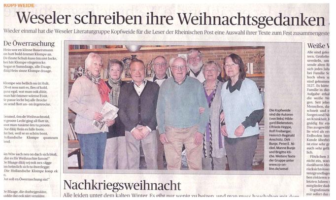 Weihnachtsseite Rheinische Post 2014