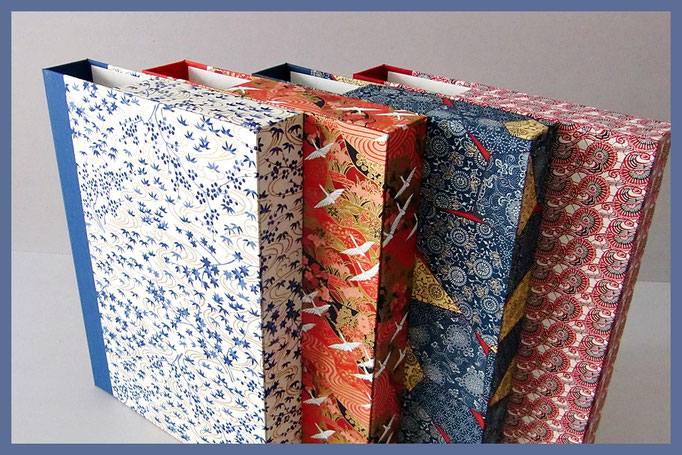 Kassetten DIN A4, japanisches Chiyogami-Papier