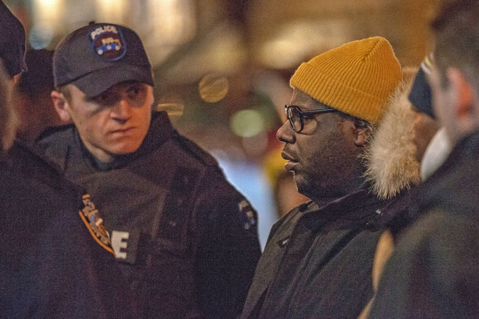 Dean and Oscar winning Director Steve McQueen discussing the shot