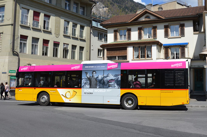 Buswerbung Postauto Interlaken