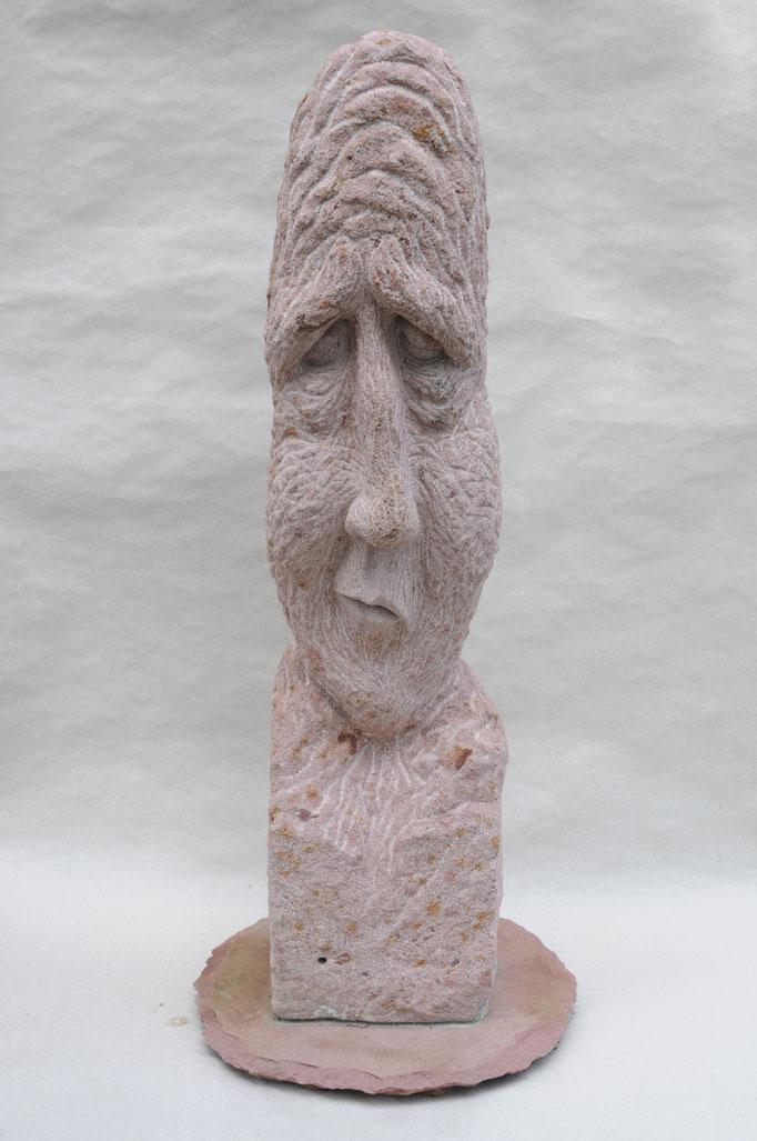 O.T. , Sandstein, H 98 T 22 B 25 cm