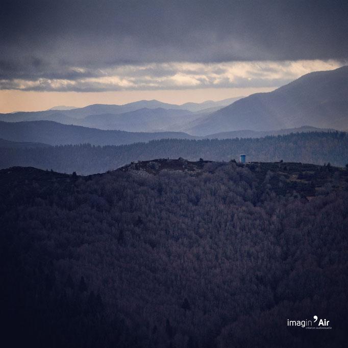 Vue sur la tour Bleu - Ardèche - 24/12/2019   Crédit : Benoit PEREZ