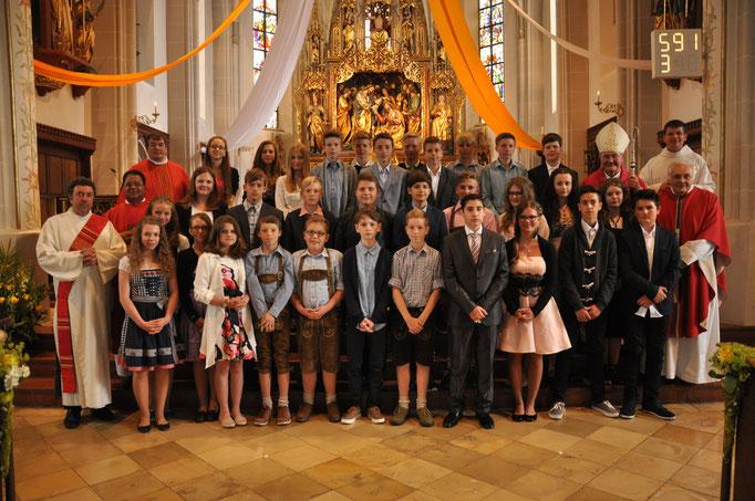 Firmlinge der Pfarrei Velden