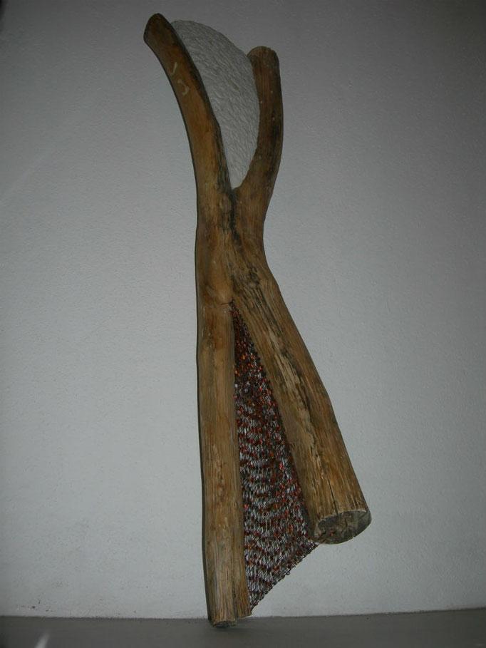 Tanz 2014 Holz Cottaer Sandstein Synthetik-Effektgarn ca. 95 cm