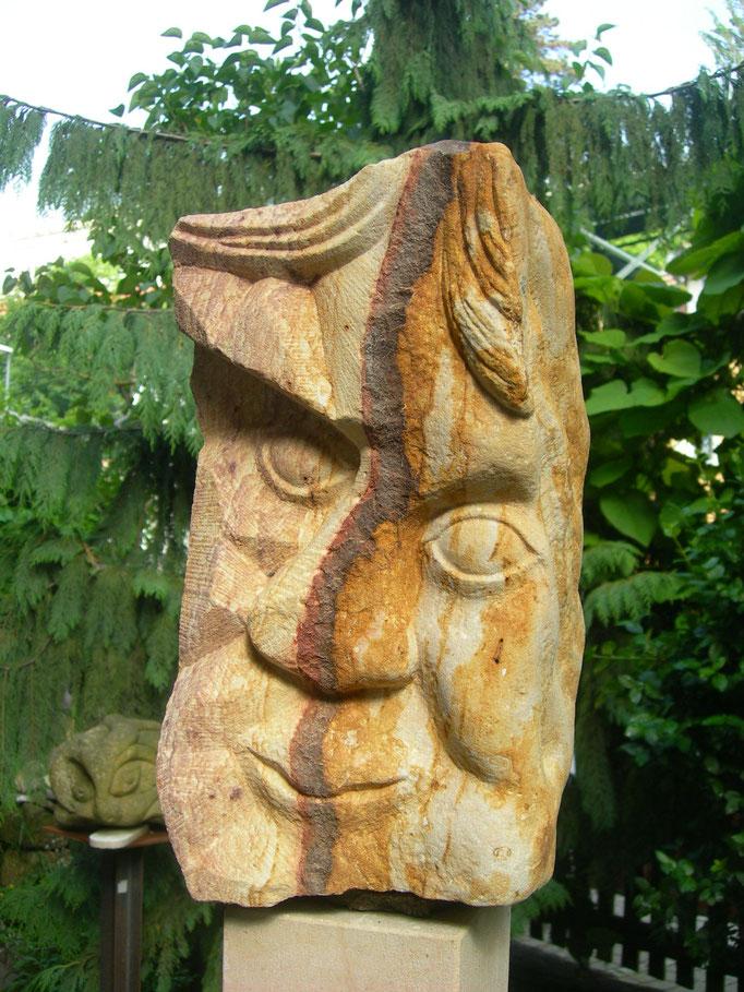 Januskopf 2.Seite 2016 polnischer Sandstein ca 40 cm