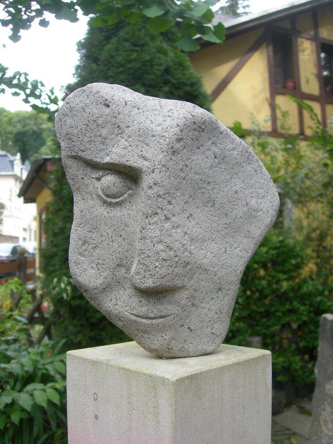 Halbes Gesicht 2017 Cottaer Sandstein